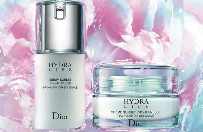 Floral-Fruity power in Dior cream, Hydra Life line. Creme Sorbet Pro – Jeuness.